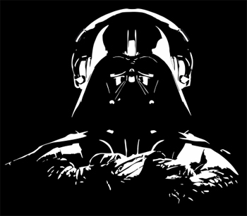 Darth Vader Headphones T-Shirt