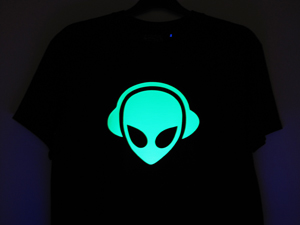 DJ and Music T Shirts - Glow Under UV T Shirts - Head Space DJ and Music T Shirts - Head Space Stores