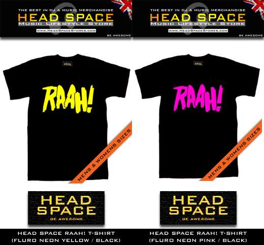 Head Space RAAH T-Shirt - Music and DJ T Shirts - Head Space Stores