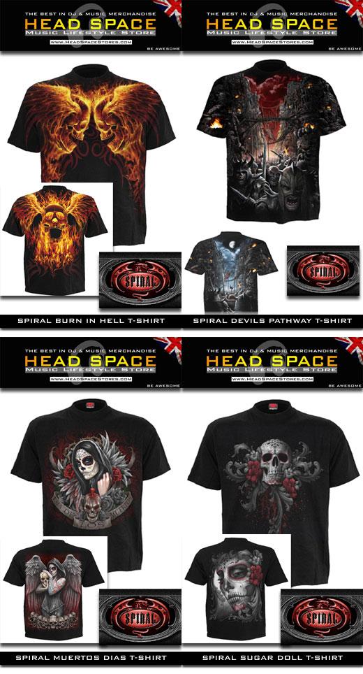 Spiral T-Shirts - Rock Metal Goth t-Shirts