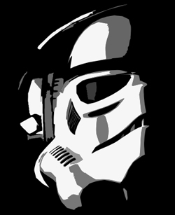 Stormtrooper Headphones T Shirt