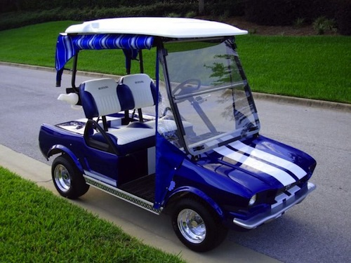 Melissa's Golf Cart Custom Kits - click 4 Kits on black trailer, black tv, black toy hauler, black bus,