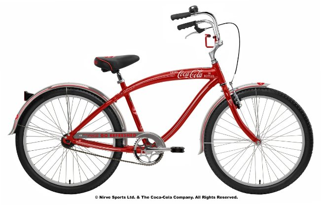 Nirve Coca-Cola Cruiser - Mens Adult Custom Beach Bike | Co Branded ...