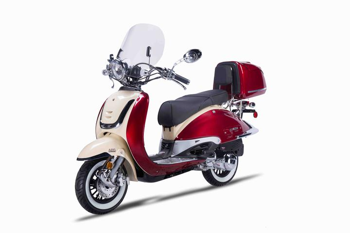 Heritage 150cc Gas Scooter Moped - FREE SHIPPING