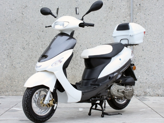 Maui 49cc | 50 Gas Motor Scooter - windshield/Luggage Box for Sale