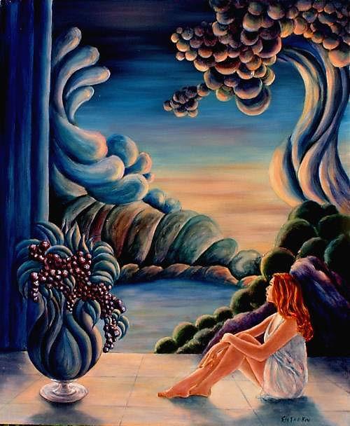 Blue Sigh, Oil on canvas