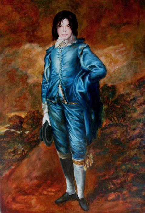 Michael Jackson as The Blue Boy stage 4