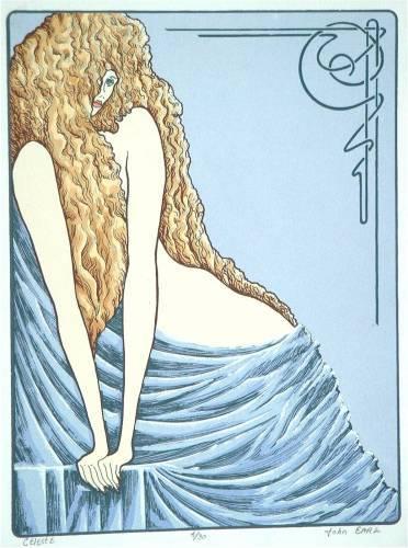 Celeste, Serigraph Print by John Entrekin