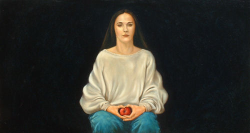 Even in Sweatshirt, Oil on canvas