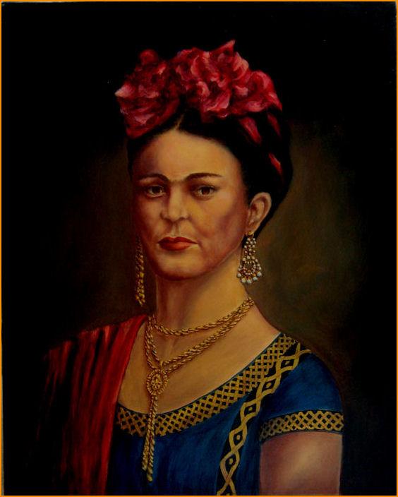 Frida Kahlo oil painting by John Entrekin