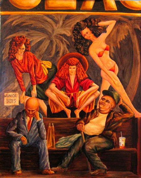 Juniors and Seniors, oil on canvas,by John Entrekin