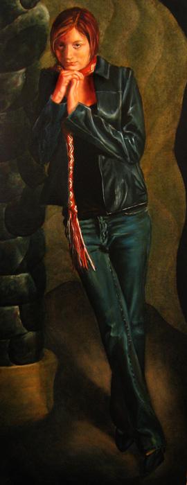 Natasha Standing, Oil Painting by John Entrekin