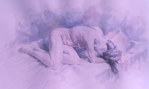 Watercolor Nude by John Entrekin