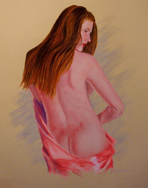 Dulcinea In Pink Drape by John Entrekin