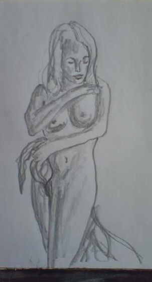 Sketch of Nude, by John Entrekin