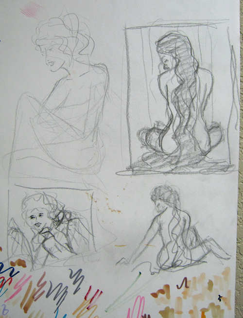 Sketches while sitting in a parking lot by John Entrekin
