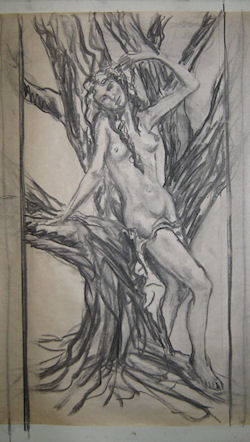 Charcoal sketch by John Entrekin