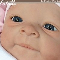 Estelle Doll Kit comes unpainted, but this is an examples of how doll could look after reborning.