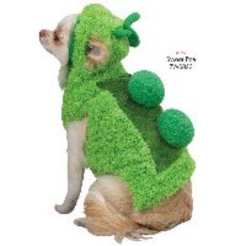 green soft pea shaped dog costume