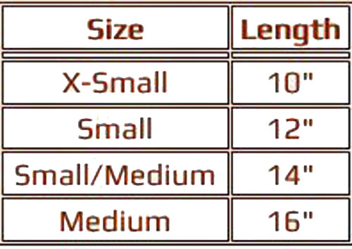 mermaid dog costume size chart
