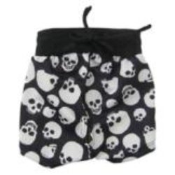 Little Lily black and white skulls dog clothes