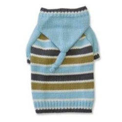 Blue Striped dog Hoodie