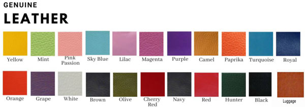 cat leather color chart