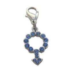 Blue BOY SYMBOL Collar CHARM