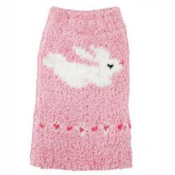 Pink Chenille Bunny dog Sweater
