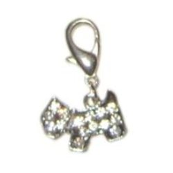 Clear Rhinestone Dog Charm for Dog Collar