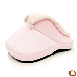 dogo small dog bed shaped like a big pink comfy slipper
