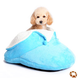 dogo blue small dog slipper bed