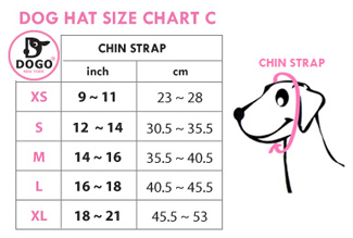 Dogo Pet Sweater Hat size chart
