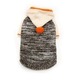 Contrast Hoodie Dog Sweater
