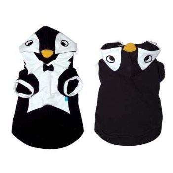 black and white hooded jacket with black bow tie Penguin costume