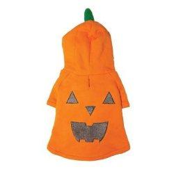 glittering orange pumpkin face patch on a Pumpkin Sweatshirt