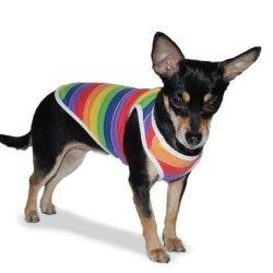 PP Rainbow striped dog Tank