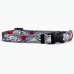 Tattoo Best Dog Ever Collar