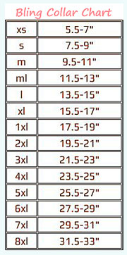 dog collar size chart