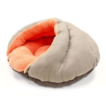 dogo solid colored small dog cave like pet bed