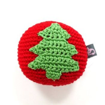 dogo handmade red Ball with green Christmas Tree