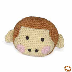 soft hand made dogo Monkey Face Dog Toy