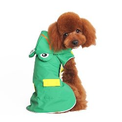 Dogo Pet green waterproof dog Frog Raincoat