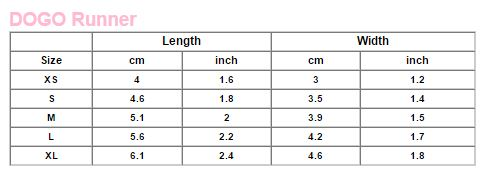 dogo shoes size chart