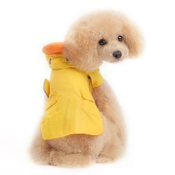 yellow waterproof duck dog raincoat