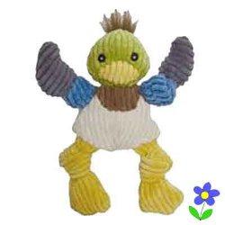 HuggleHound Knotties Duck Dog Toy