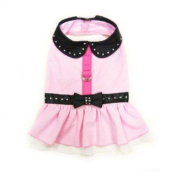 Pink Dogo harness dog dress