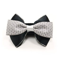 EasyBOW black and grey dog collar bow tie