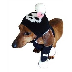 Jolly Roger for Her Dog Hat & Scarf