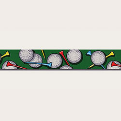 golf balls design on dog lead